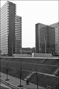 Bibliothèque Nationale de France Black and White photograph