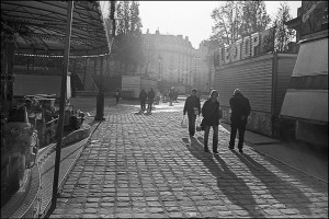 Place Stalingrad Paris Black and White Photograph