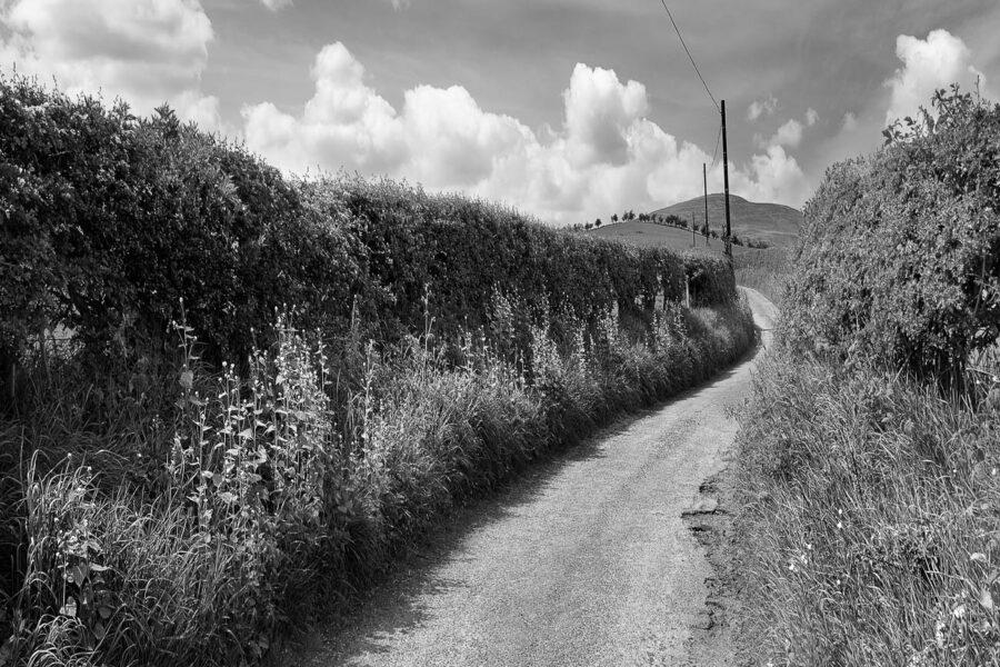 Little road above Wooler     Petite route proche de Wooler        Northumberland UK