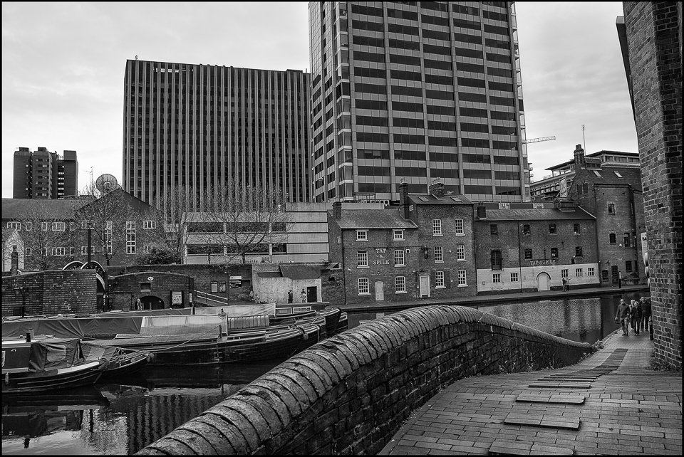 Black and white photograph of Birmingham in 2008