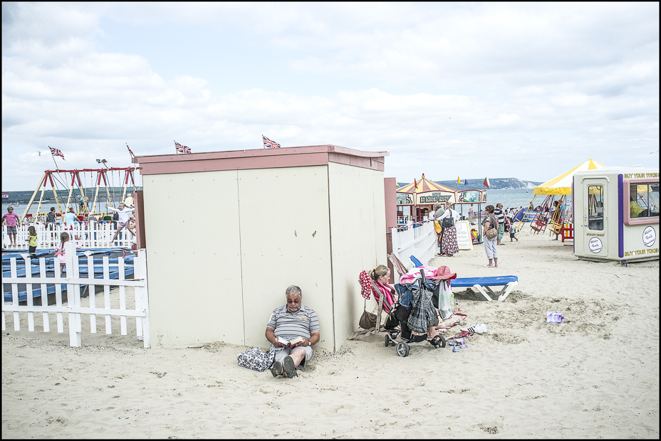 Weymouth beach colour photograph 2011