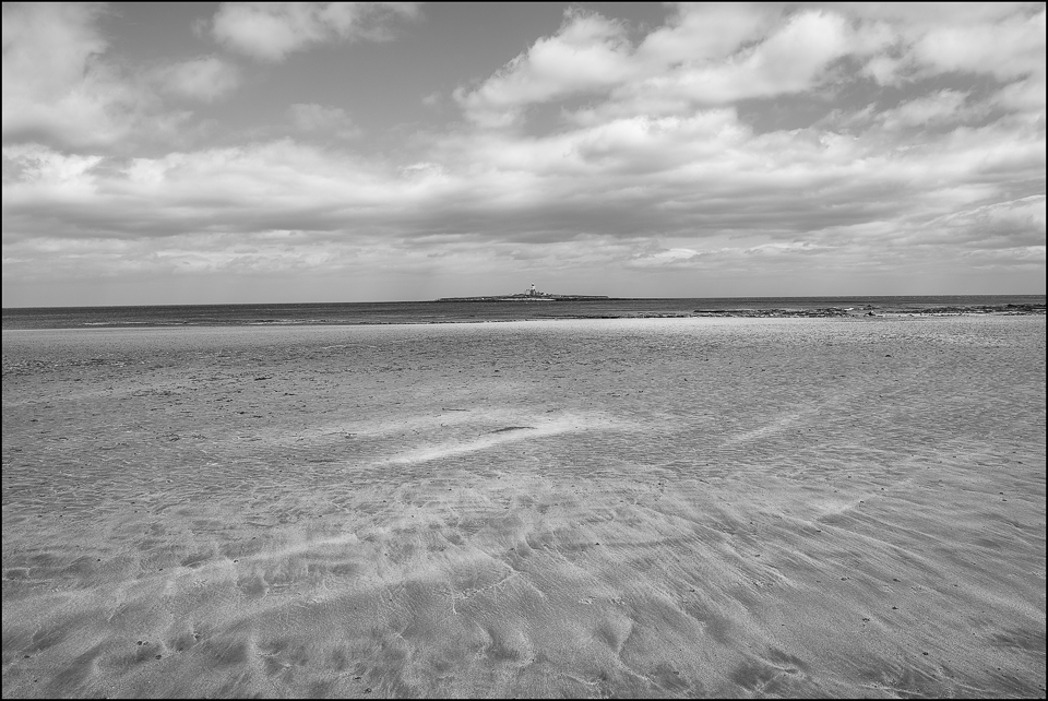 Amble Coast Northumberland black and white photograph by Christophe Chevaugeon
