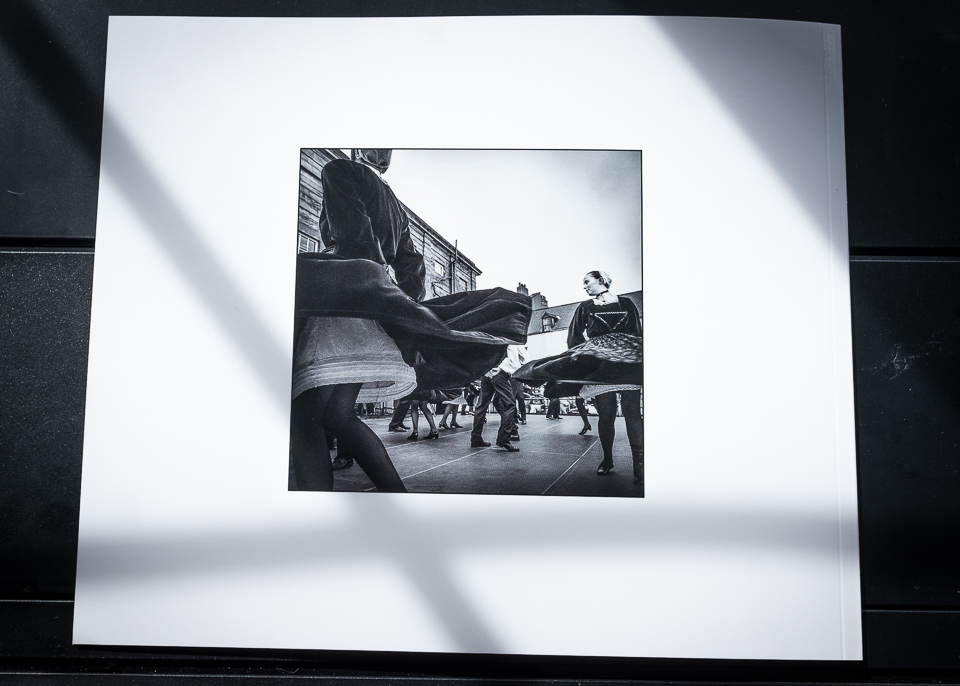 Picture of back cover of Photo book ' A Dance ' by Christophe Chevaugeon