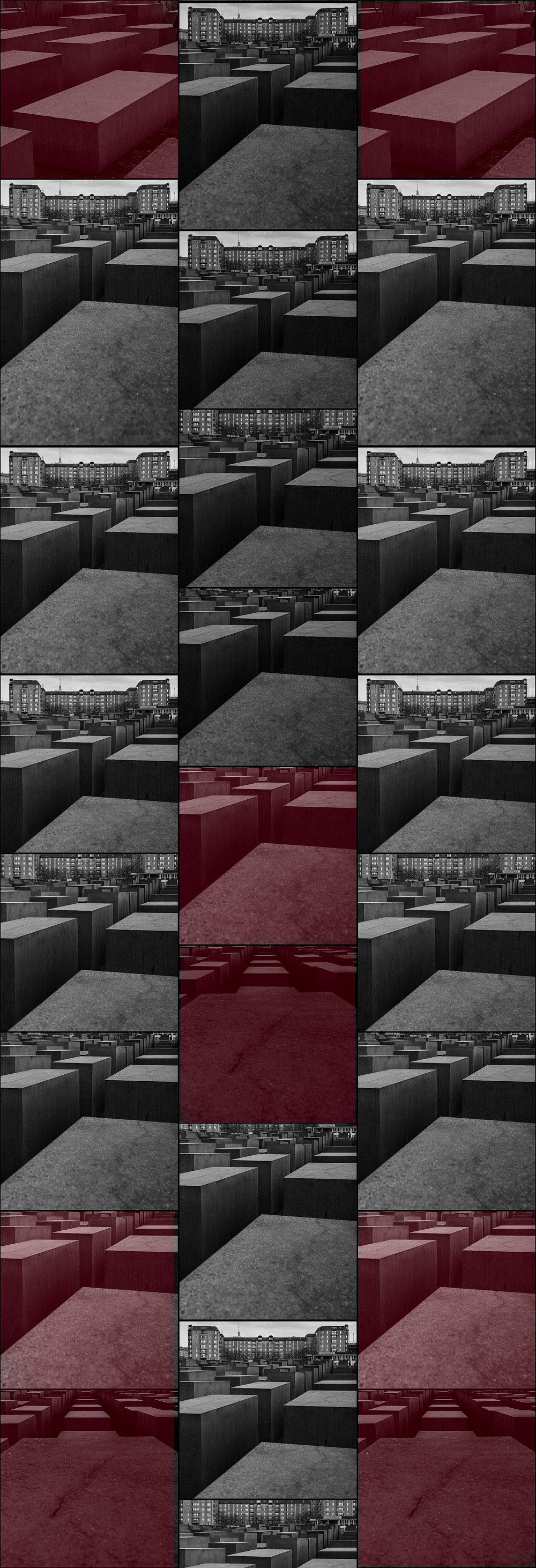 banner made from different crops of a photograph of Berlin monument