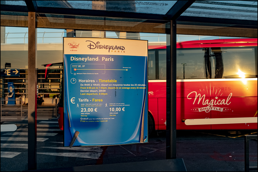Disneyland Shuttle Bus Stop at roissy Charles De Gaulle Airport